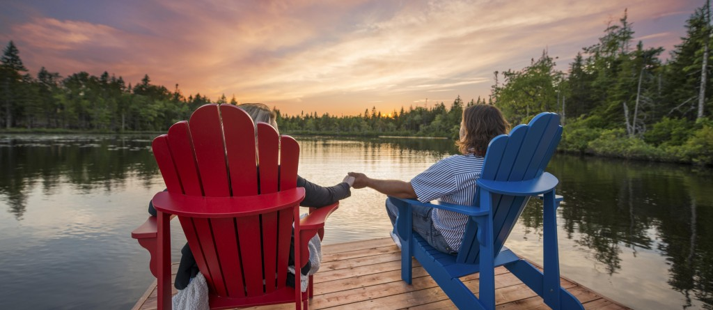 Adirondack chairs - sunset for article